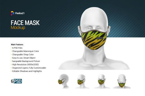 Download Face Mask Mockup In Apparel Mockups On Yellow Images Creative Store PSD Mockup Templates