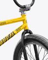BMX Bicycle Mockup - Back Half Side View