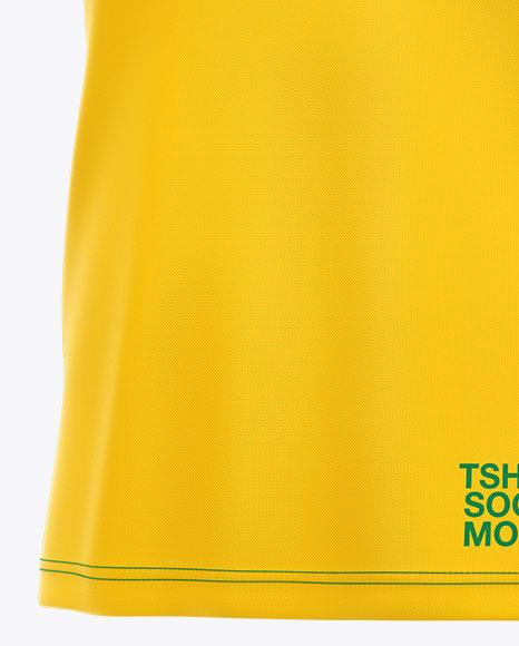 T-shirt Soccer Mockup - Half Side View