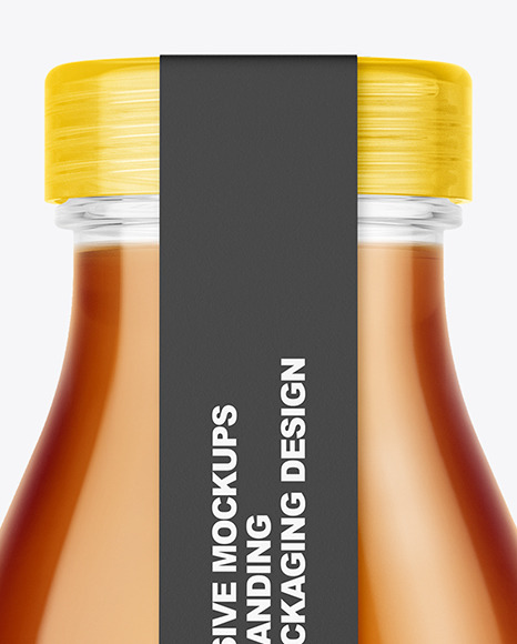 Tea Bottle with a Tag Mockup