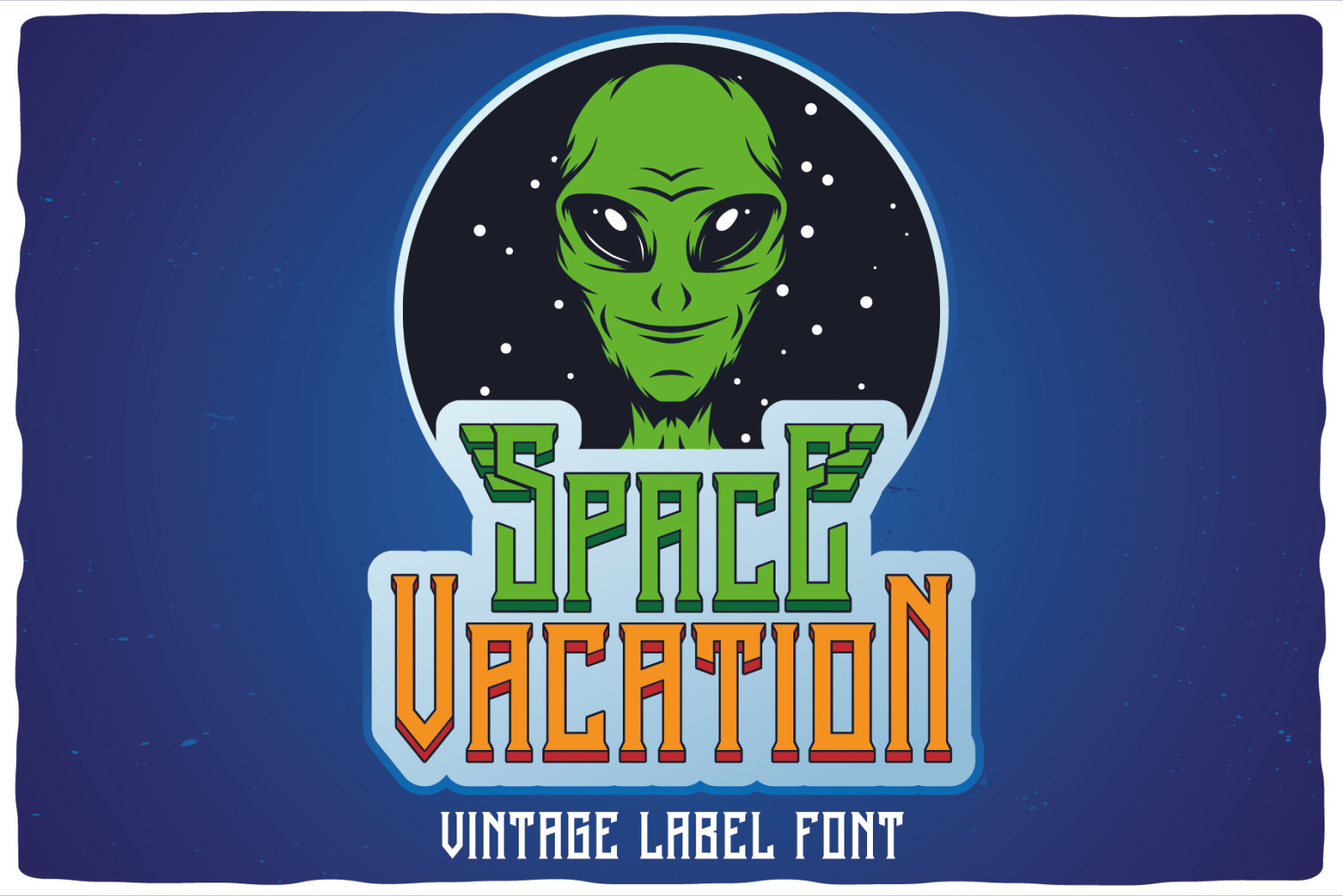 Space Vacation layered font