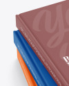 Hardcover Books w/ Textured Cover Mockup
