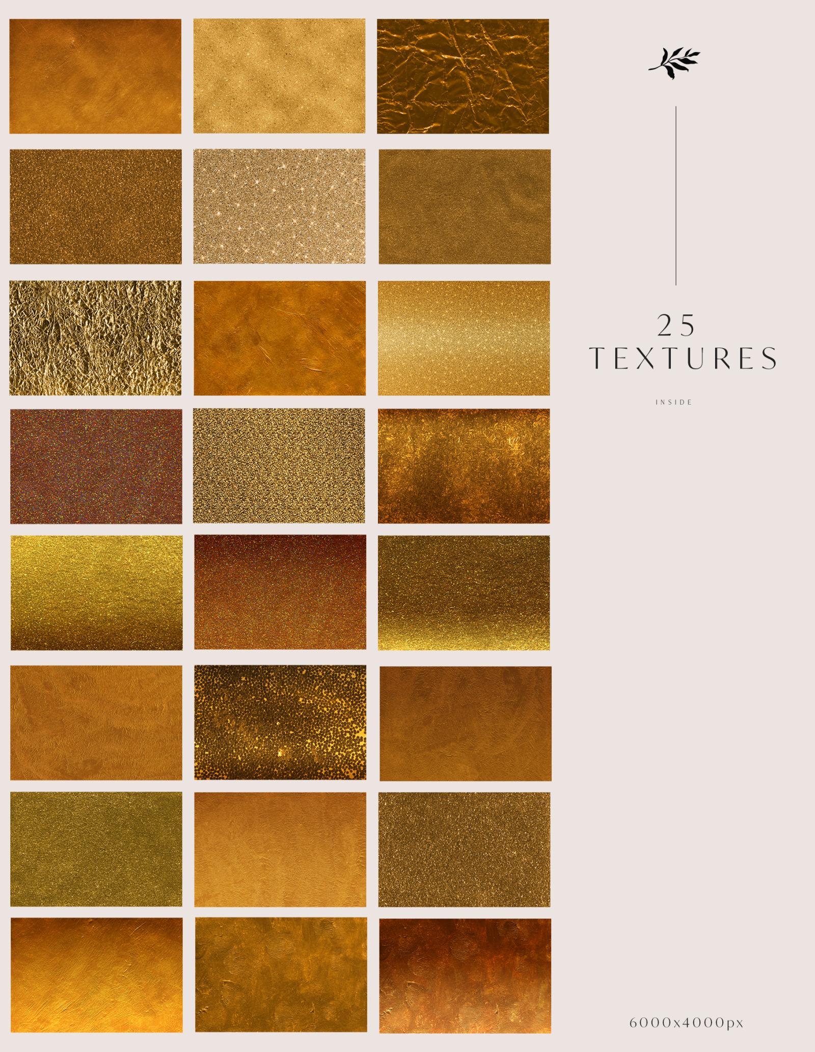 25 Golden Age Luxury Textures