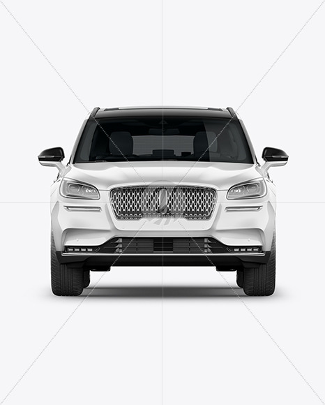 Crossover SUV Mockup – Front View - Yellowimages Mockups