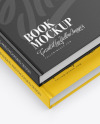 2 Hardcover Book w/ Fabric Cover Mockup