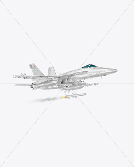 Combat Fighter with Rockets- Half Side View (Hero Shot)