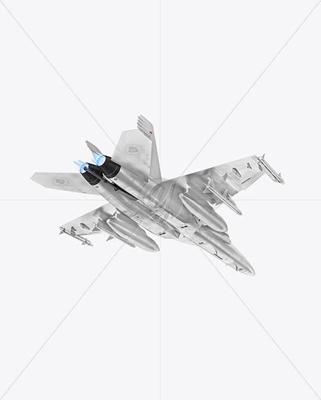 Combat Fighter - Back Half Side View (Hero Shot) - Yellowimages Mockups