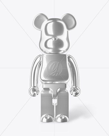 Glossy Metalized Collectible Figure Mockup