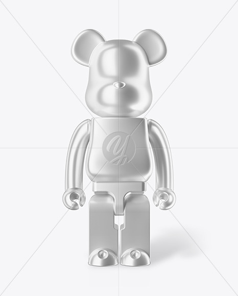 Matte Metalized Collectible Figure Mockup