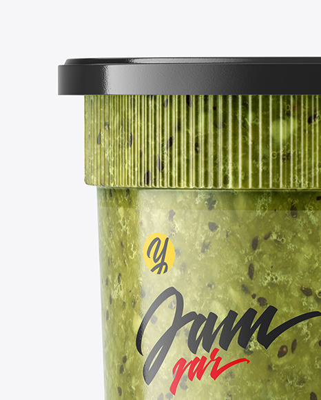 Kiwi Jam Jar Mockup