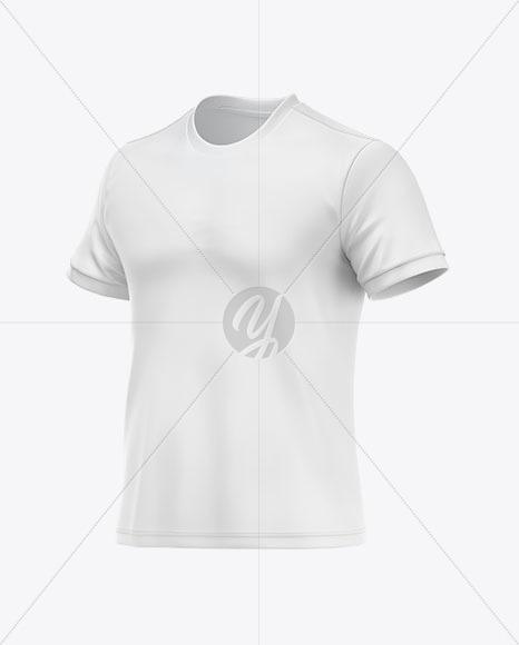 T-shirt Soccer Mockup – Half Side View