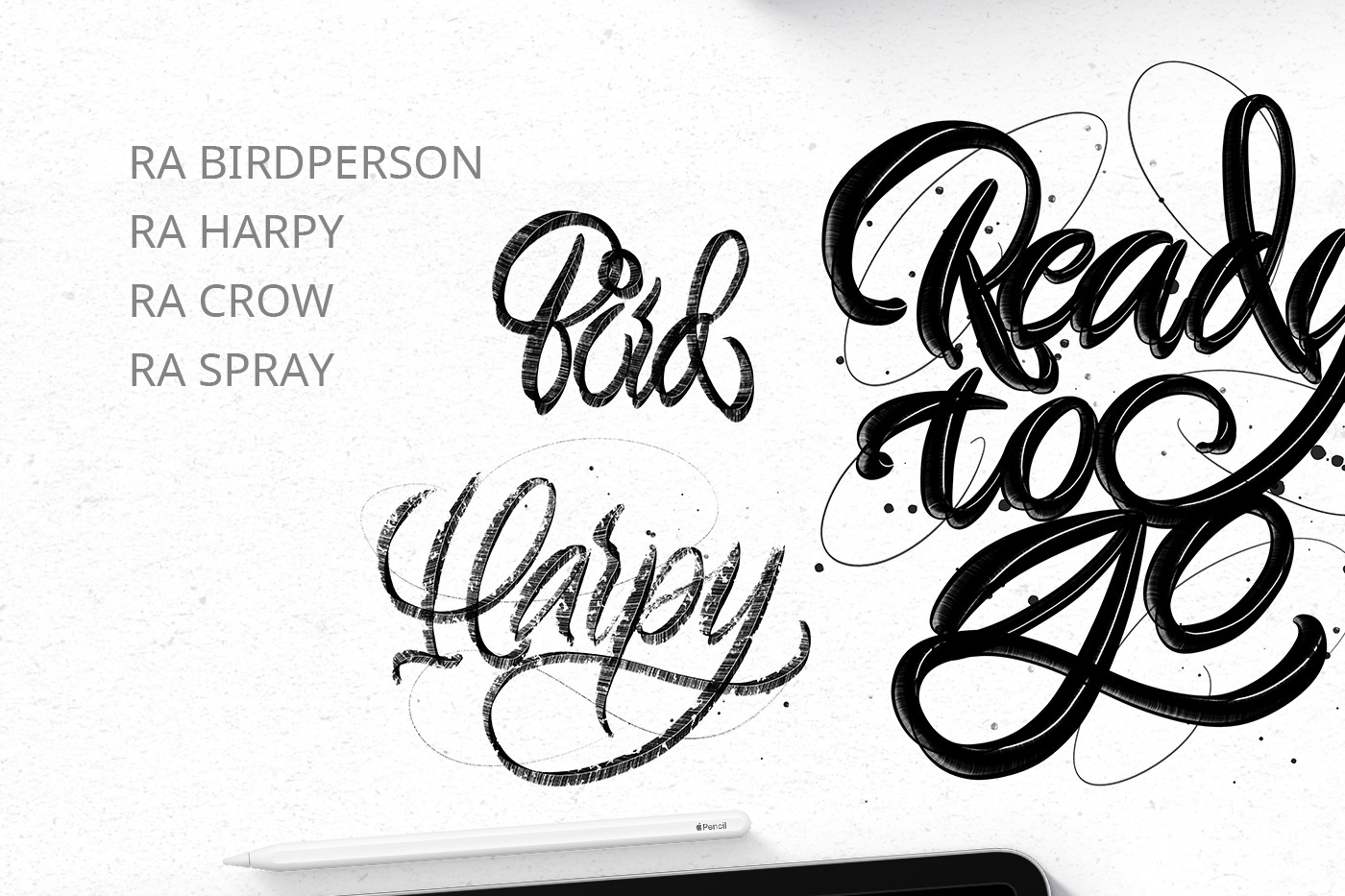 Fantasy lettering brushpens for Procreate