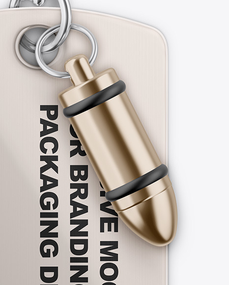 Metallic Tag Mockup