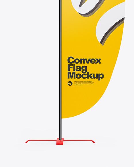 Convex Flag Mockup