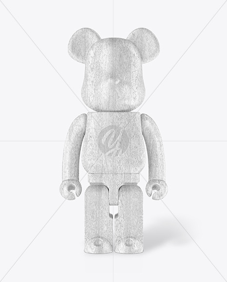 Matte Wooden Collectible Figure Mockup