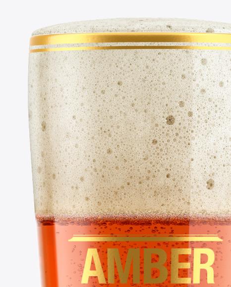 Amber Ale Beer Glass Mockup