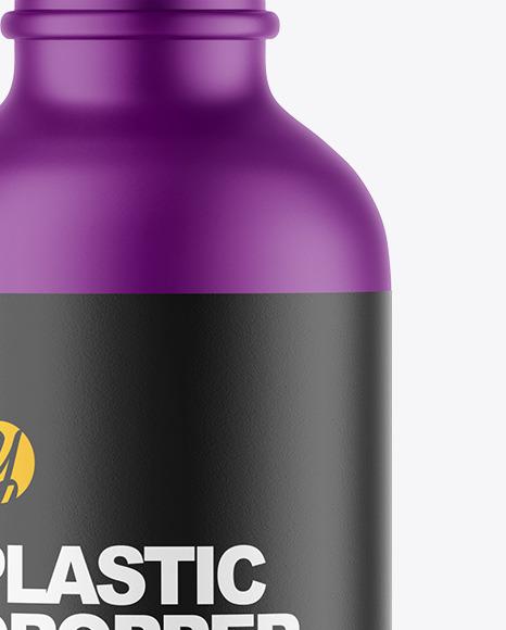 Matte Plastic Dropper Bottle Mockup