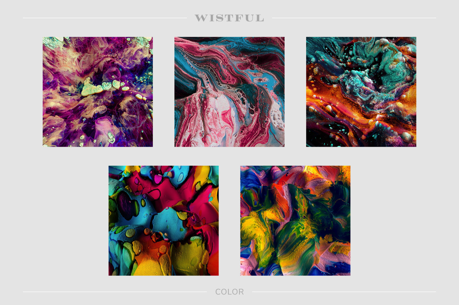 Wistful: Experimental 3D Paint Textures