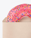 Paper Pack with Pink Glazed Donut
