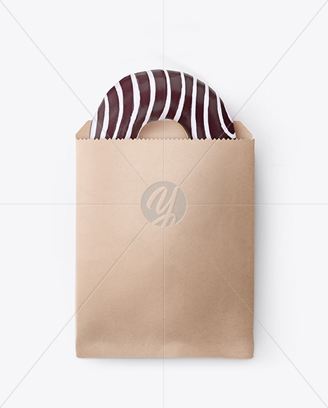 Paper Pack with Chocolate Glazed Donut