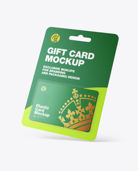Gift Card in Blister Pack Mockup