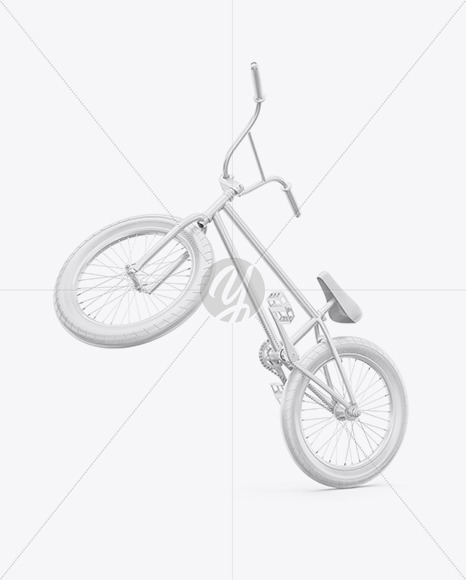 BMX Bicycle Mockup - Half Side View