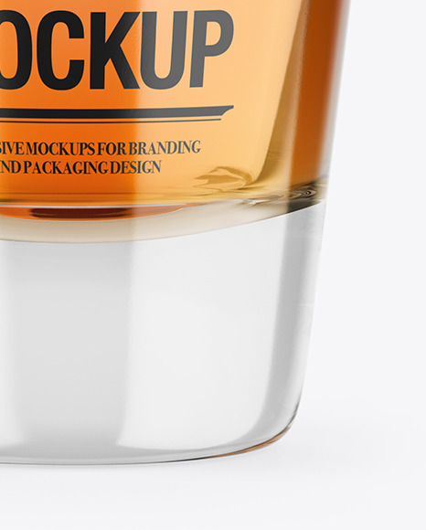 Whisky Glass Shot Mockup