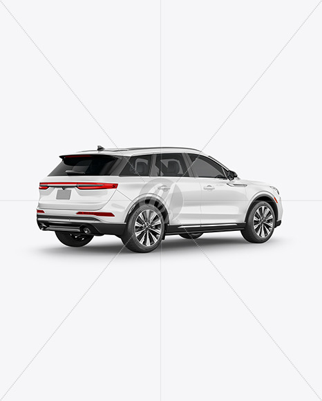 Crossover SUV Mockup – Back HalfSide View - Yellowimages Mockups