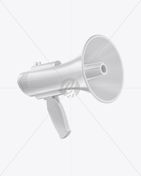 Glossy Megaphone Mockup