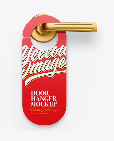 Door Hanger Mockup