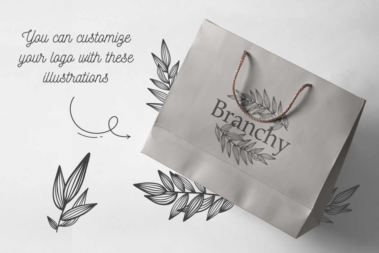 52 hand drawn branches