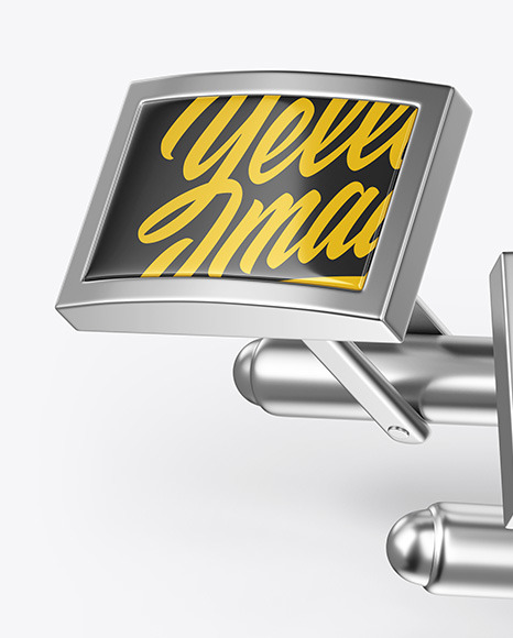 Two Cufflinks with Rectangle Caps Mockup