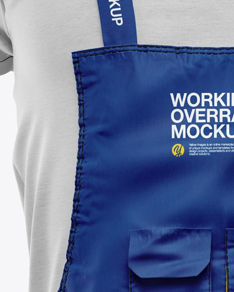 Melange Working Overalls Mockup