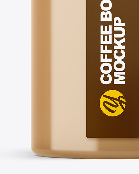 Coffee Bottle with a Tag Mockup