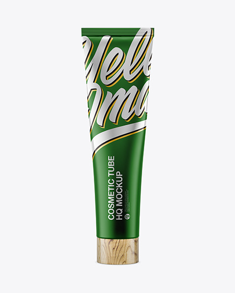 Matte Metall Cosmetic Tube Mockup