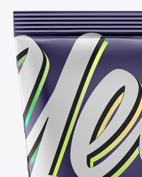 Glossy Metall Cosmetic Tube Mockup