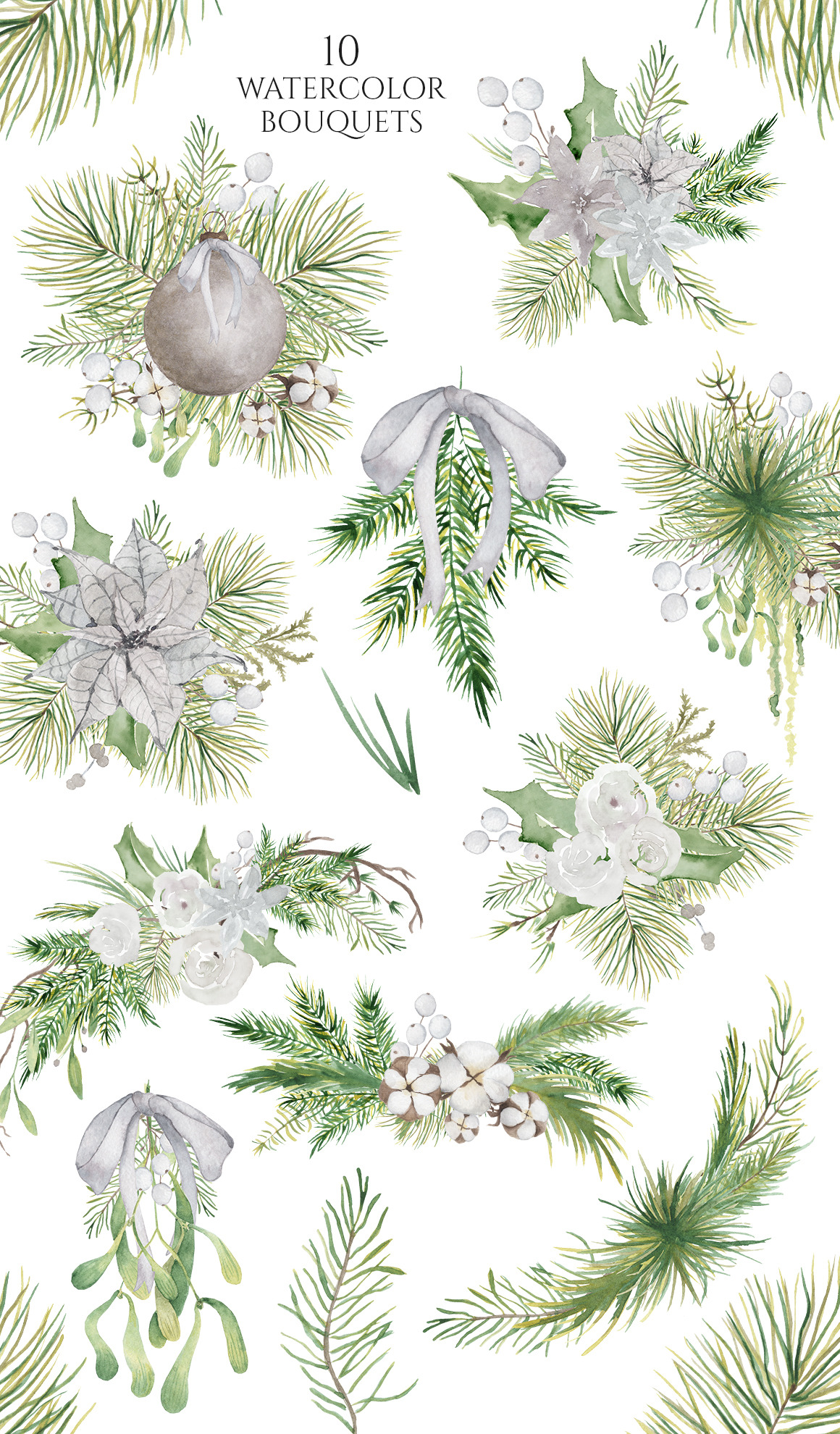 Christmas Watercolor Caracters