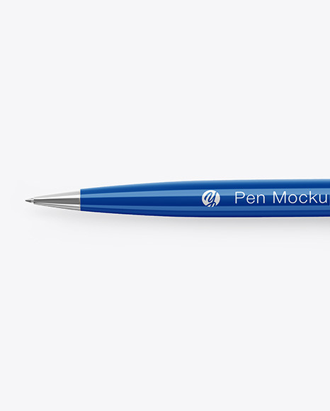 Glossy Pen w/ Metallic Finish Mockup