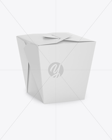 Download Matte Paper Noodles Box Mockup In Box Mockups On Yellow Images Object Mockups