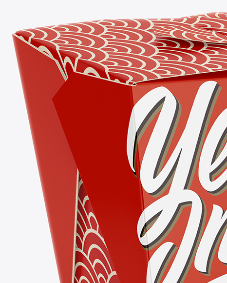 Download Matte Paper Noodles Box Mockup Half Side View High Angle Shot In Box Mockups On Yellow Images Object Mockups
