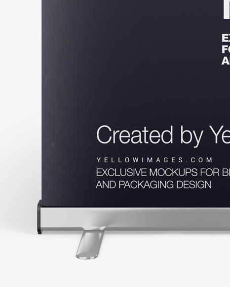 Roll-up Banner Stand Mockup - Front View