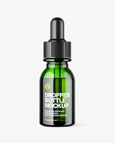Download Green Glass Dropper Bottle Mockup In Bottle Mockups On Yellow Images Object Mockups PSD Mockup Templates