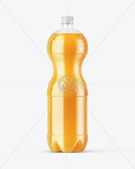 Multifruit Soft Drink PET Bottle Mockup