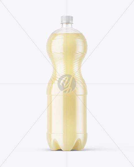 PET Bottle with Pear Drink Mockup