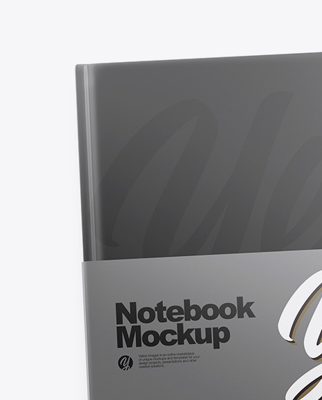 Two Hard Cover Notebooks Mockup