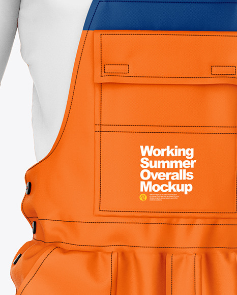 Working Summer Overalls Mockup – Front  View