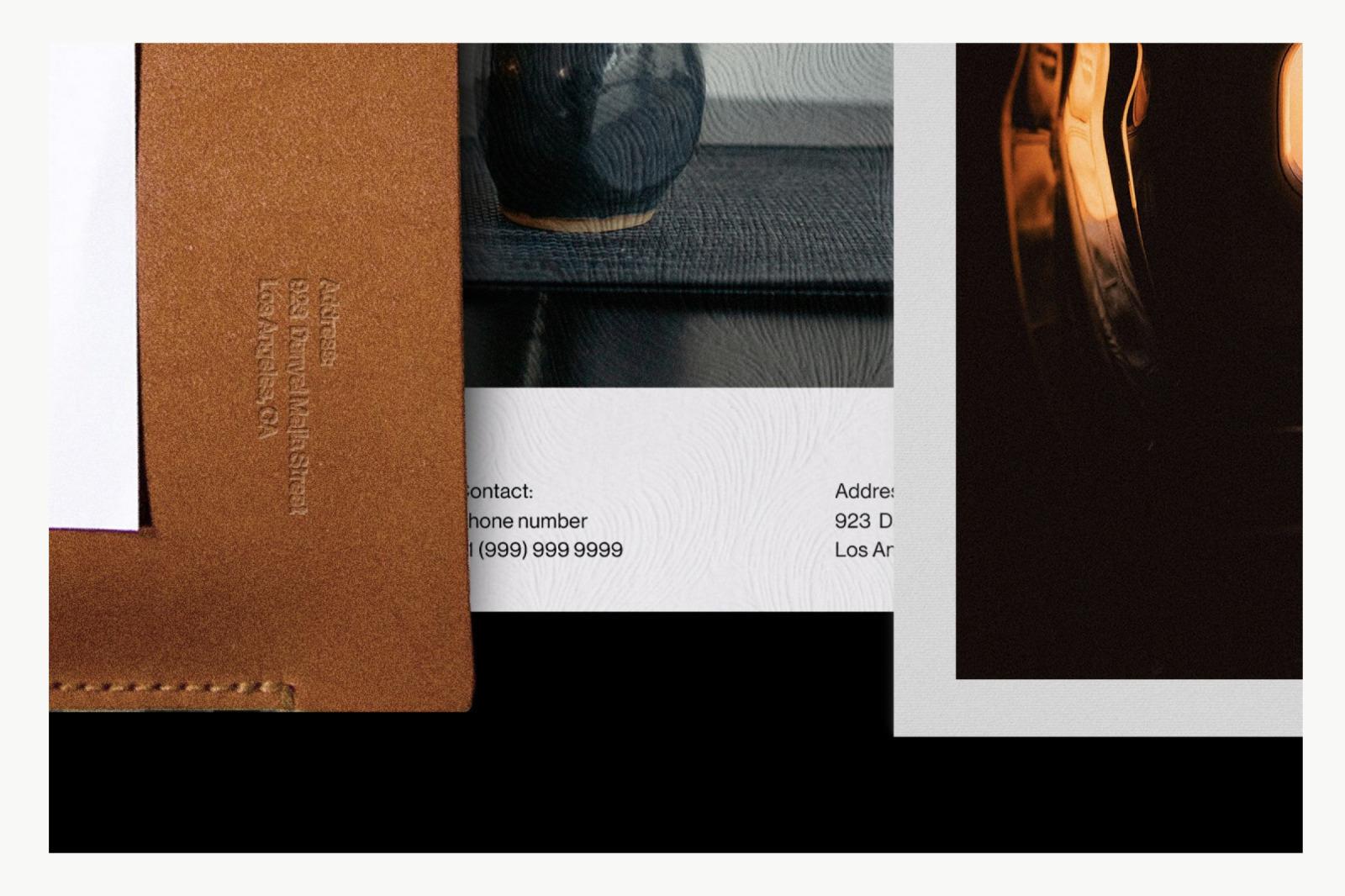 (Leather) Stationery Branding Mockup