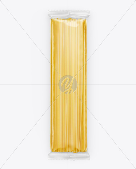 Clear Bag With Pasta Mockup