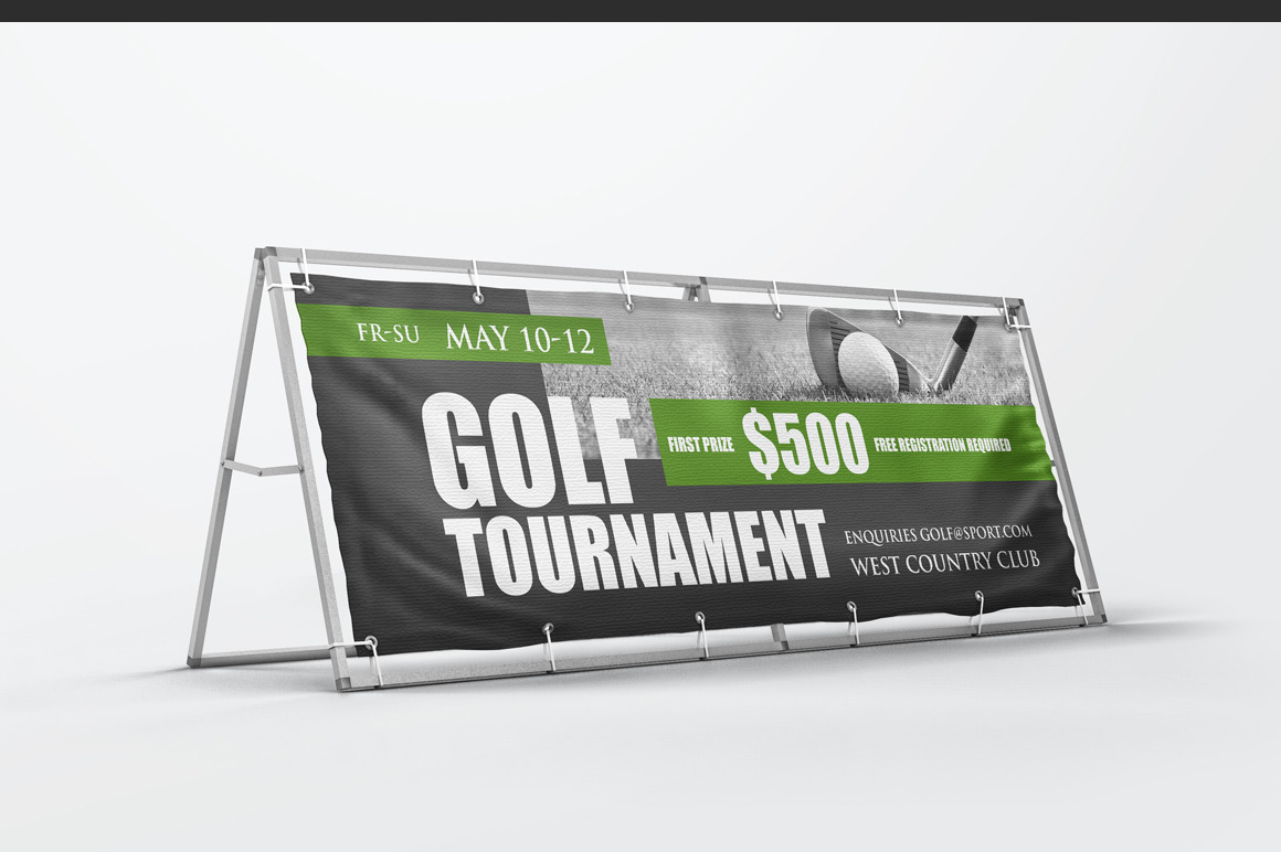 Monsoon Outdoor Banner Stand Mockup