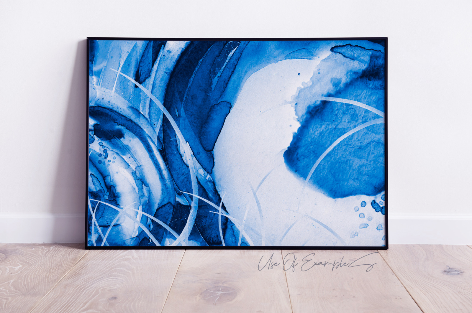 Wind Rose Watercolor Blue